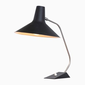 Lámpara de mesa ajustable minimalista negra de Sis, años 50