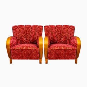 Schwedische Sessel, 1950er, 2er Set