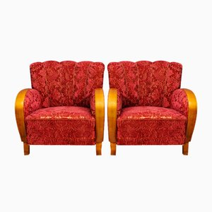 Swedish Armchairs, 1950s, Set of 2