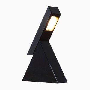 Lámpara de mesa ajustable Delta italiana vintage negra de Mario Bertorelle