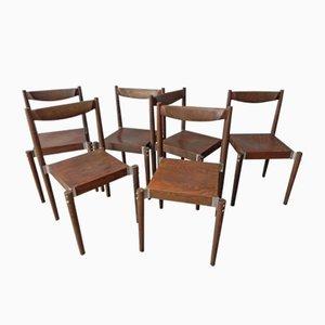Chaises de Salon Tchèques, 1970s, Set de 6