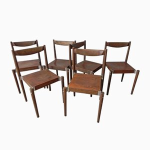 Czech Dining Chairs, 1970s, Set of 6