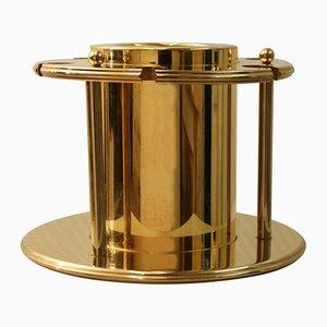 Secchiello per champagne placcato in oro con tappo per bottiglie in cristallo di Turnwald Collection