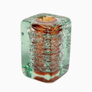 Schwere Glas Vase von František Vízner, 1968
