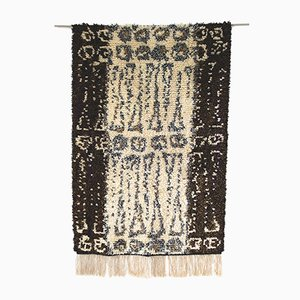 Mid-Century Modern Handmade Traditional Rya Rug, 1960s
