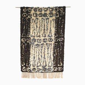 Tappeto tradizionale Rya Mid-Century moderno fatto a mano, anni '60