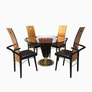 Table & 4 Chaises par Pierre Cardin, 1979