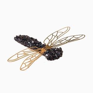 Spilla a forma di libellula in cristallo di Monté