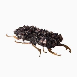 Spilla a forma di scarabeo in cristallo di Monté