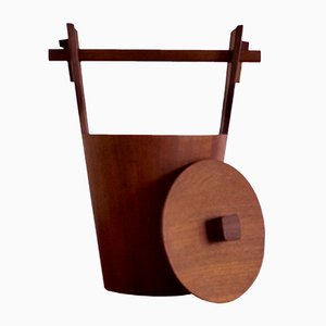 Italian Teak Ice Bucket from Anri Form, 1960s