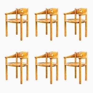 Esszimmerstühle aus Kiefernholz von Rainer Daumiller für Hirtshals Sawmill, 1960er, 6er Set