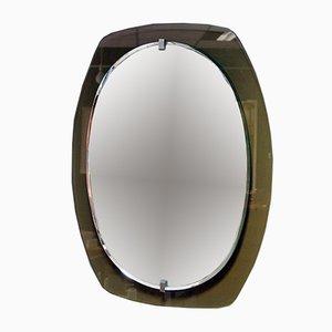 Italian Smoked Glass Mirror, 1970s