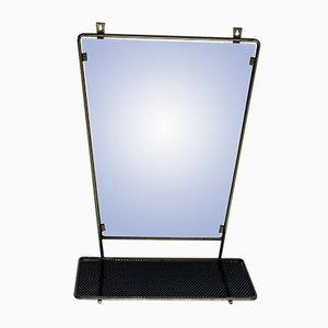 Espejo de pared vintage con estante