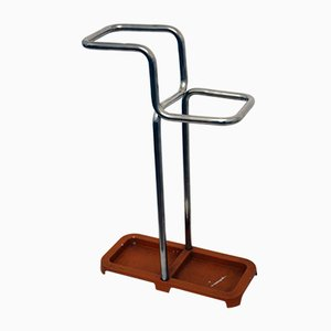 Bauhaus Umbrella Stand in Tubular Steel, 1930s