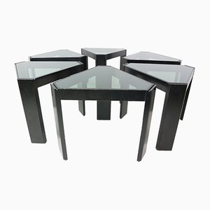 Geometric Stackable Nesting Tables by Porada Arredi, 1970s