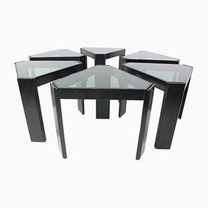 Tables Gigognes Géométriques Empilables par Porada Arredi, 1970s