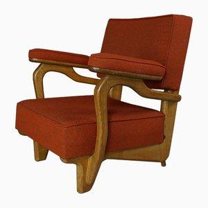 Sessel aus Massiver Eiche von Guillerme & Chambron, 1960er