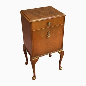 Vintage Walnut Bedside Table, 1930s