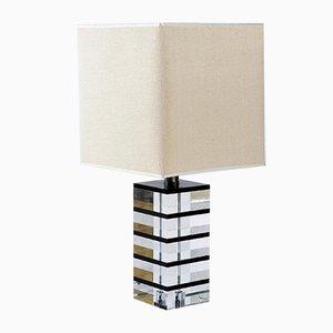 Lámpara de mesa Mid-Century de lucite de Feliceantonio Botta