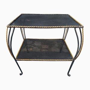 Tavolino in ferro battuto, anni '50