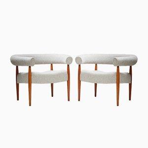 114 Eichen Ring Stühle von Nanna Ditzel für Kolds Savvaerk, 1950er, 2er Set