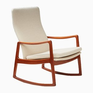 Rocking Chair FD-160 Mid-Century en Teck par Ole Wanscher pour France & Søn