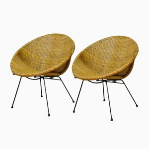 Dutch Circle-Shaped Cocktail Side Chairs, 1960s, Set of 2
