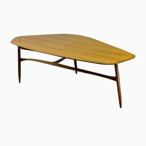 Free Form Shaped Lacquered Kidney Coffee Table by Svante Skogh, 1953