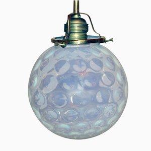 Lampada da soffitto Art Nouveau in vetro, Austria