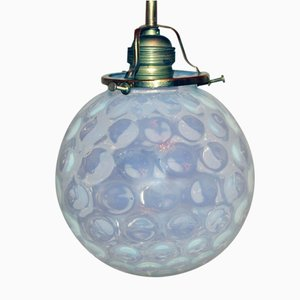 Viennese Art Nouveau Glass Ceiling Lamp