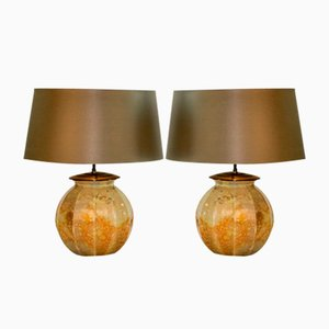 Hand-Crafted Table Lamps from Laque Line, 1970s, Set of 2