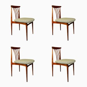 Czechoslovakian Upholstered Dining Chairs, 1960s, Set of 4