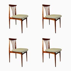 Gepolsterte Tschechoslowakische Esszimmerstühle, 1960er, 4er Set