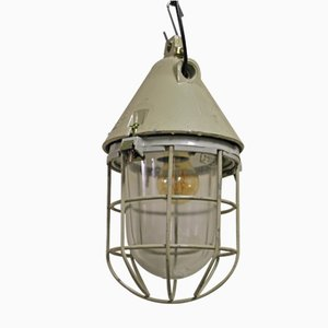 Industrial Caged Bunker Lamp from EOW, 1960s