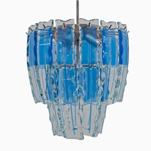 Murano Chandelier in Chiseled Glass from Fontana Arte, 1960s