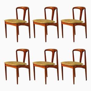 Juliane Dining Chairs in Teak by Johannes Andersen for Vamo, 1960s, Set of 6