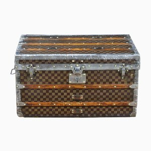 Damier Steamer Trunk with Trays from Louis Vuitton, 1900s