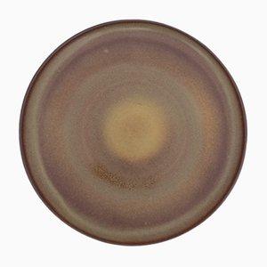 Piatto grande vintage in gres di Nanni Valentini per Ceramiche Arcore, anni '70