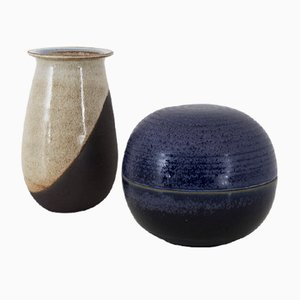 Vintage Small Ceramics by Nanni Valentini for Ceramiche Arcore, 1970s, Set of 2