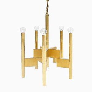 Lámpara de suspensión de Gaetano Sciolari, años 70