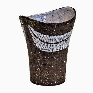 Jarrón de cerámica de Rolf Hansen para Kongsberg Keramikk, años 50