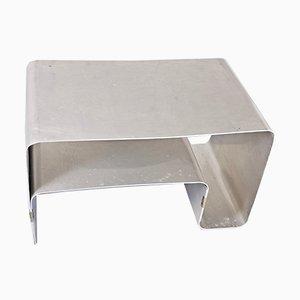 Coffee Table in Brushed Steel by Joel Ferlande for Kappa, 1970s