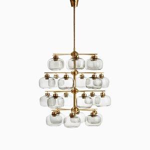 Lámpara de araña de Holger Johansson para Richard Westall, años 60