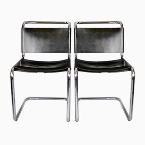 B33 Chairs by Marcel Breuer for Gavina, 1950s, Set of 2