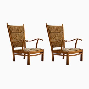 Armchairs by Bas van Pelt, 1940s, Set of 2