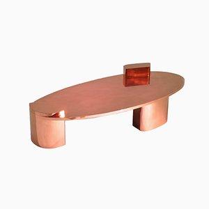 Mesa de centro baja 2069 de cobre pulido de Privatiselectionem
