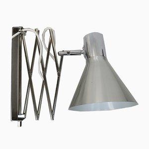 Lampes Ciseaux Vintage en Plaqué Chrome et Aluminium Mat Brossé, Set de 2