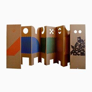 Paravent Pliable Sculpturale Il posto dei giochi par Enzo Mari pour Danese Milano, 1967