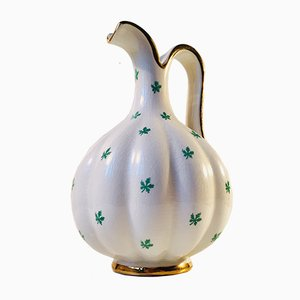 Swedish Art Deco Split Pumpkin Jug by Arthur Percy for Upsala Ekeby, 1940s