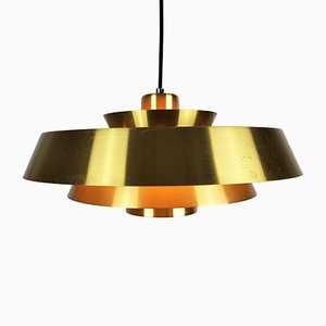 Nova Pendant Light in Brass by Jo Hammerborg for Fog & Mørup, 1960s